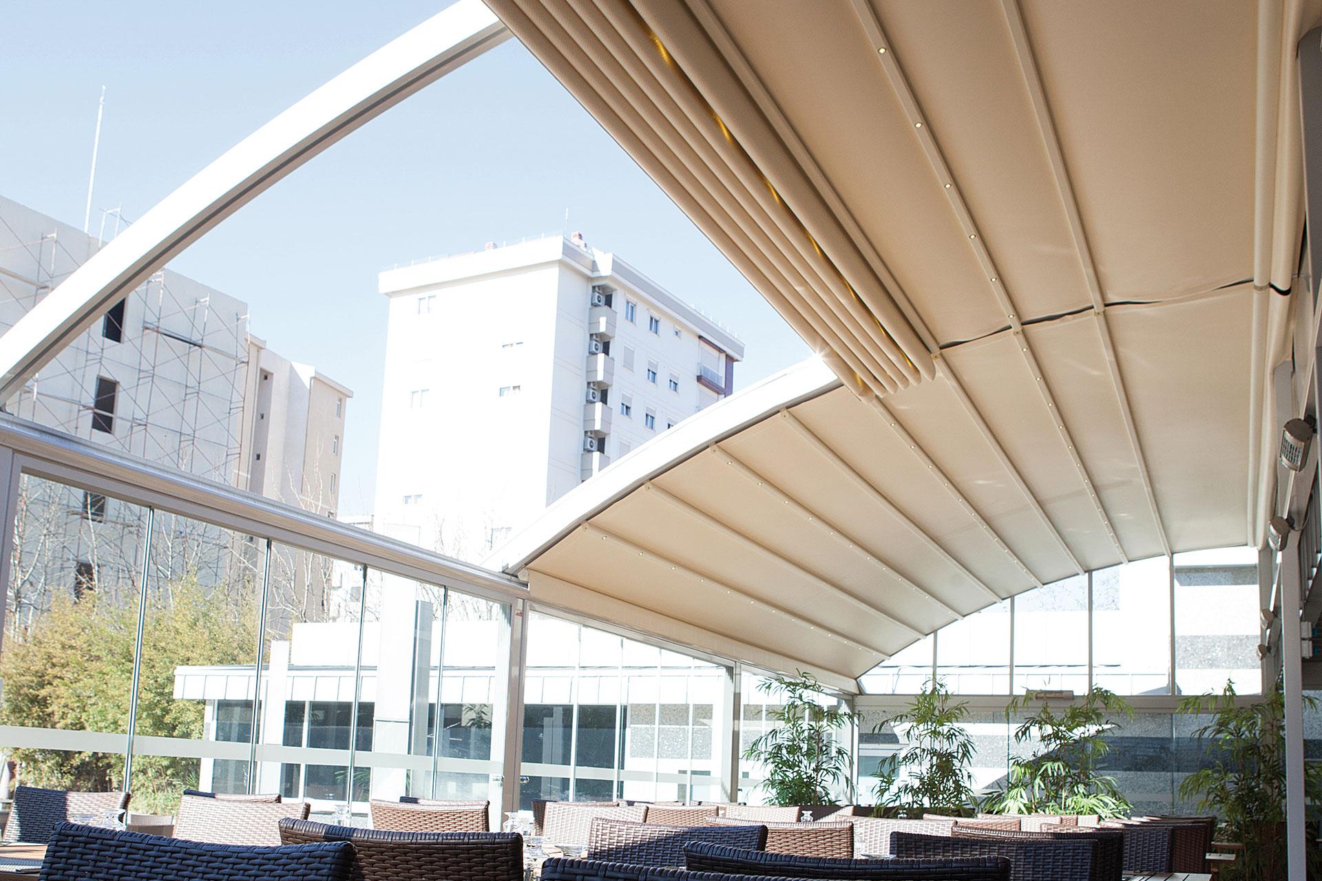 Protection Solaire de terrasse de restaurant