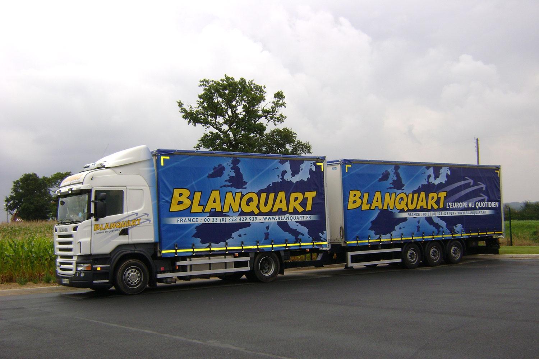 Impression sur bâches de camion